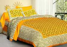 Cotton Florel Printed Comfort King Size Double Bed sheets With Two Pillow Covers