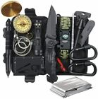 Outdoor Emergency Survival Gear Kit Camping Tactical Tools 14 in 1 SOS EDC Case