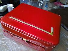 ESTEE LAUDER BRIGHT RED MAKE-UP TOILETRIES FLIGHT CARRY CASE BAG