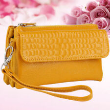 Borse da donna borsette pochetti gialli pelle