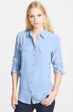 Equipment Slim Signature Women silk Shirt Blouse sky blue XS/S/M $218