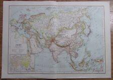 Karte aus 1889 - Asien - alte Landkarte old map