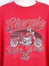 2015 STURGIS Bike Week T-Shirt Size 2XL 75th Annual Black Hills Motor Classic