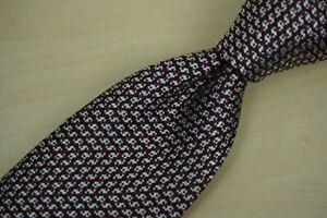 Ermenegildo Zegna CURRENT Label Red White Blue Woven Silk Tie Made Italy 2019
