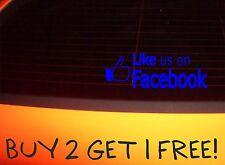 LIKE US ON FACEBOOK, FUNNY CAR DECAL STICKER EURO JDM VAG VW 4X4 SAXO CORSA KA
