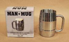 Man Mug • Stainless Steel • 16.9 Oz / 500 ml • Holds a Pint 'o Beer •ManMug.com