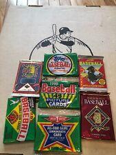 Unopened wax pack lot you pick 7 packs huge vintage old baseball cards gift idea