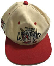 Vintage Hickory Crawdads Minor League MLB Strapback Hat Cap Throwback 90's Rare
