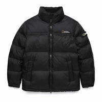 National Geographic Mens Bison RDS Duck Down Short parka Jacket - Black
