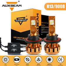AUXBEAM  LED Headlight Canbus Error Free H13 9008 High & Low Beams 6K XENON Bulb