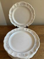 "SET OF 4 Pfaltzgraff REMEMBRANCE 10-3/8"" Dinner Plates; USA Stamp"