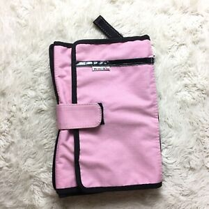 Munchkin Pink Baby Girl Diaper Change Travel Kit Fold Up Diaper CHanging Pad. A