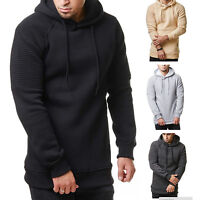 Mens Winter Slim Hoodie Hooded Sweatshirt Pullover Coat Jacket Outwear Sweater