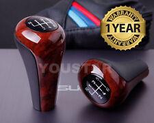 AU STOCK Elegant BURL WOOD Effect Glassy Manual Gear Shift Knob BMW 6 Speed