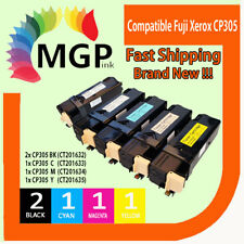 5x Toner Cartridges For Fuji Xerox CP305D CM305D CM305DF KCMY 2BK+CMY