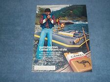"1980 Camel Filters Cigarettes Vintage River Rafting Ad ""Satisfaction..."""