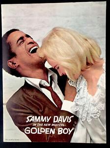 Sammy Davis in The New Musical Golden Boy Souvenir Program 1964 - 20 pages N/M