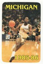 1985-86 Michigan Wolverines Basketball Schedule