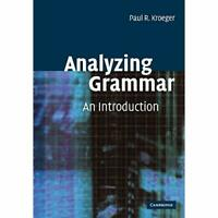 Analyzing Grammar An Introduction Cambridge Textbooks Linguistics 9780521016537