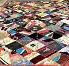 19thC Antique Crazy Quilt/Flowers/Bird/Spider Web/Work Of Art For Restoration