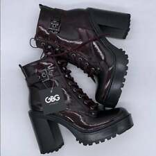 Gbg Los Angeles Womens Cranberry Fashion Boots - Size 8  - Free Shipping.