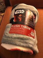 "Star Wars The Force Awakens 50"" X 60"" Plush Throw - New"