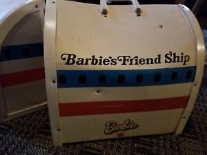 Vintage Barbie's Friend Ship United Airlines Airplane Mattel 70s Fold Out Plane