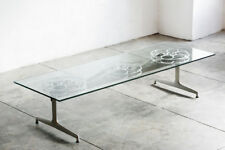 Film Reel Coffee Table on 1960s Modern Base, Made to Order by Rehab Vintage