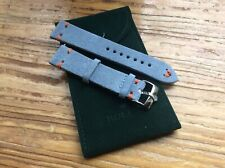 20mm Handmade Rolex Suede Band Rolex Steel Buckle with Suede Rolex Pouch