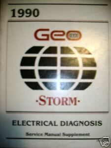 1990 Chevrolet Geo Storm Electrical Diag Service Manual