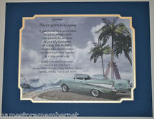 """57 Chevy """"You've Given Us A Legacy""""  Personalized Poem for Grandpa Grandfather"""
