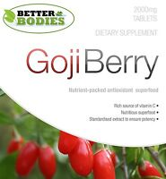 Goji Berry 2000mg HIGH Strength Antioxidant Capsules Tablets Better Bodies UK