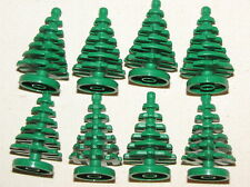 LEGO 8 SMALL GREEN PINE TREES CHRISTMAS TREE PIECES