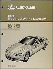 lexus sc300 manual new 1994 lexus sc 300 400 wiring diagram manual sc300 sc400 electrical oem book