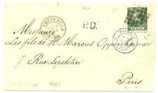 NEDERLAND 1870  LETTER COVER  AMSTERDAM  TO  FRANCE     NR# 10   F/VF