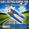 NARVA DEUTSCH CRIMPING TOOL 14 AWG SOLID PIN TRAILER PLUG CRIMPER LIGHT - 56507