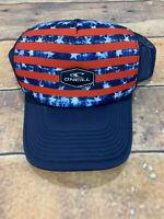 O'Neill Snapback Trucker Hat Brand New Red White Blue Patriotic