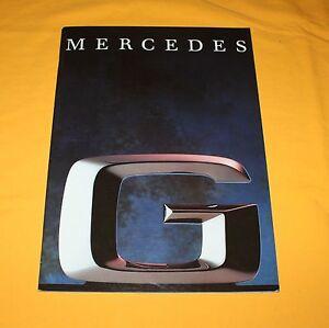 Mercedes G 1990 Prospekt Brochure Catalog Depliant Prospetto Prospecto Puch
