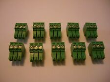 10 pcs  3 pin - 3.5mm Terminal Block Connector Crestron, Speakercraft, B&K, Nuvo