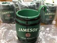Jameson Irish Whisky 6 Plastic Shot Barrel Hitch Hiker Shot Glasses Green NEW!