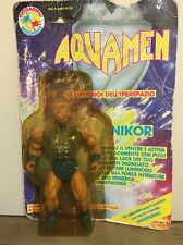 Vintage Speclatron Aquamen Nikor Rare He-man Ko Sealed On Card And Bubble