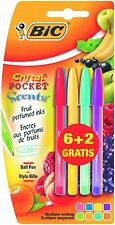 BiC Cristal Pocket Scents Scented Pens (Value Pack of 6 Plus 2 Free)