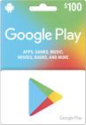 Google Play $100 Physical Gift Car