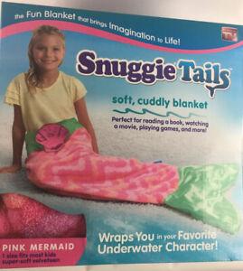 Snuggle Tales Soft Cuddly Blanket Pink Mermaid