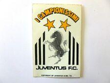 VECCHIO ADESIVO anni '80 / Old Sticker CALCIO FOOTBALL JUVENTUS zebra (cm 7x10)a