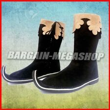 Men's Medieval Style Renaissance Boots Hand Made Leather Shoes Pirate Movie