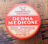 Antique Derma Medicone Dental Anesthetic Ointment Tin