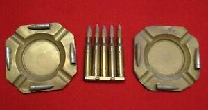 BULLET ASHTRAYs Brass World War II Trench Art Vintage