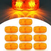 10X 12/24v 12 LED Side Marker Light Blinker Amber For Car Truck Van Trailers