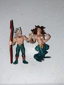 Safari Ltd Mythical Realms POSEIDON & MERMAID Fantasy Figures 2007